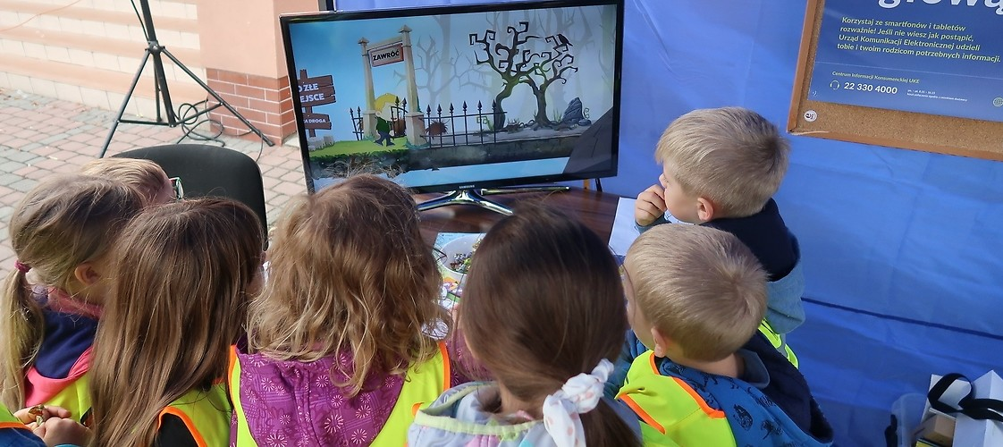 Children watching our educational movie